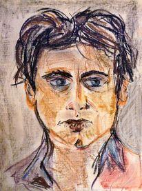 Mann, Pastellmalerei, Portrait, Zeichnungen