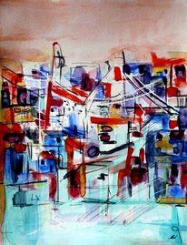 Farben, Zirkus, Stadt, Fantasie