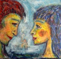 Frau, Einklang, Expressionismus, Paar