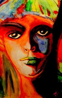 Stein, Rot, Augenblick, Portrait