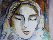 Portrait, Loslösung, Energie, Frau