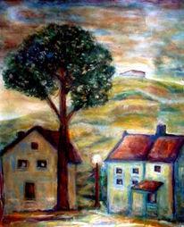 Ölmalerei, Himmel, Morgen, Früh