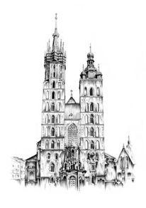 Kirche, Zeichnungen