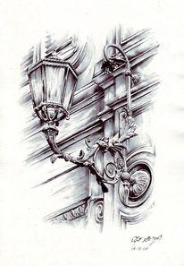 Fassade, Lampe, Zeichnungen