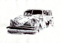 Altes auto, Zeichnungen