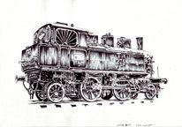 Alte lokomotive, Zeichnungen, Lokomotive