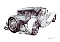 Auto, Bugatti royale, Zeichnungen