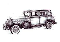 Auto, Hudson 8, Alt, Zeichnungen