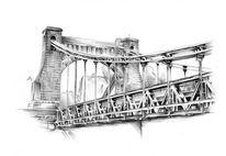 Brücke, Zeichnungen