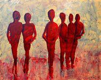 Einsamkeit, Menschen, Gemeinsam, Gruppe
