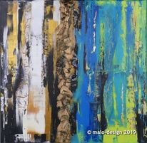 Acrylmalerei, Malerei, Abstrakt, Schwarz