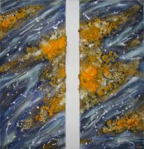 Gelb, Abstrakt, Acrylmalerei, Struktur