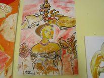 Malerei, Menschen, Frau, Afrika