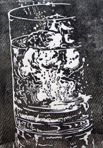Hochdruck, Holzschnitt, Druckgrafik, Schwarz weiß