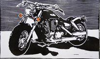 Motorrad, Druckgrafik, Harley