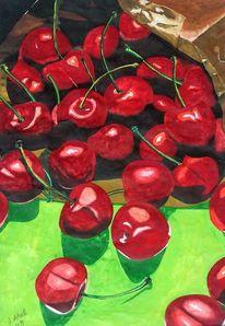 Kirsche, Grün, Rot, Komplementärfarbe