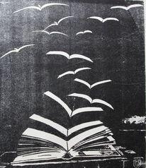 Vogel, Lythographie, Lythografie, Grafik