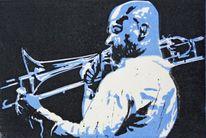 Jazz, Schwarz, Musik, Blau