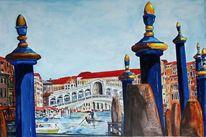 Venedig, Rialtobrücke, Canal grande, Fondaco dei tedesci