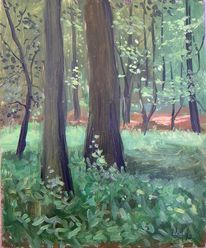 Gemälde, Landschaft, Arrangement, Malerei