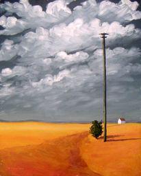 Gemälde, Arrangement, Landschaft, Malerei