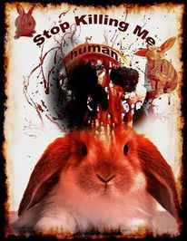 Mast, Kaninchen, Zuchtkaninchen, Digitale kunst