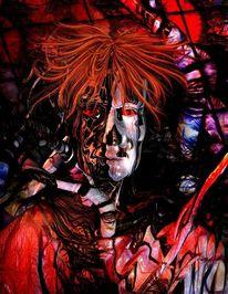 Halloween, Abstrakt, Freak, Rot