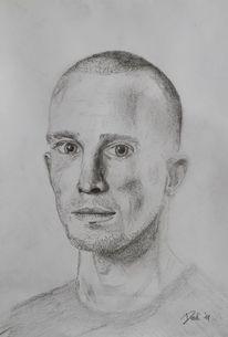 Mann, Bleistiftzeichnung, Zeichnungen, Portrait