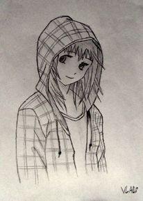 Jacke, Manga, Portrait, Comic