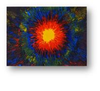 Feuer, Gemälde, Bunt, Spachtel