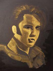 Elvis presley, Acrylmalerei, Portrait, Malerei