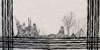 Serviette, Landschaft