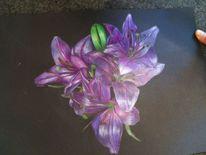 Blumen, Illustration blumen, Lila blumen, Malerei