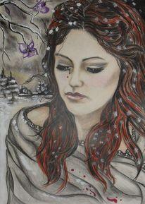 Trauer, Rot, Melancholie, Kälte