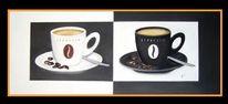 Stillleben, Kaffee, Espresso, Malerei