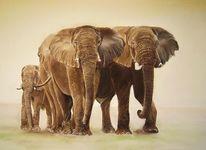 Tierwelt, Tiere, Elefant, Tiermalerei