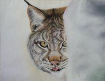 Pastellmalerei, Katze, Großkatze, Wildkatzen