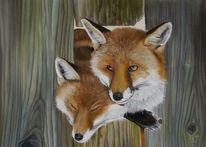Füchschen, Tierportrait, Tiere, Pastellmalerei