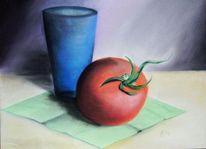 Malerei, Studie, Becher, Tomate
