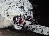 Großkatze, Tiermalerei, Wildkatzen, Pastellmalerei