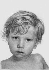 Portrait, Bleistiftzeichnung, Malerei,