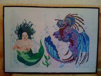 Fantasie, Zeichnungen, Meerjungfrau