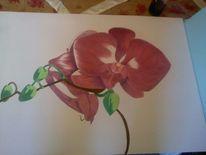Blumenmalerei, Malerei, Pflanzen, Orchidee