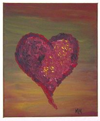 Herzblut, Herz, Rot, Malerei