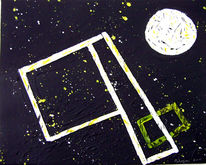 Schwarz weiß, Muell im weltall, Gelb, Collage