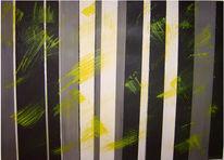 Moderne einrichtung, Gelb, Grau, Stripes