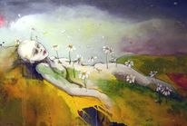 Kreislauf des lebens, Metamorphose, Malerei