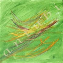 Abstrakt, Acrylmalerei, Grün, Malerei