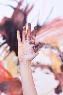 Hand, Wand, Kreide, Fotografie