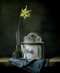 Tuch, Tisch, Vase, Osterglocke
